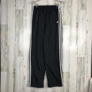 Men's medium Adidas lined drawstring track pants